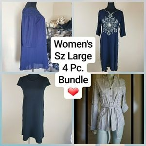 4 pc bundle Anthropologie, Kensie and more. Size L